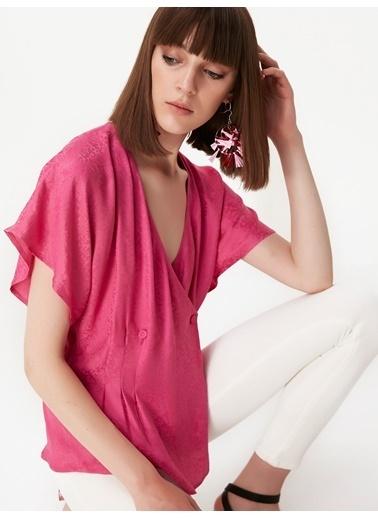Twist Bluz Fuşya